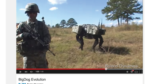 犬型ロボットBigDog
