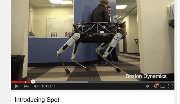 犬型ロボットspot