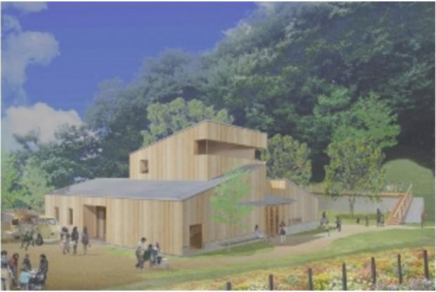 福井県の動物園の西山動物園の新レッサーパンダ舎