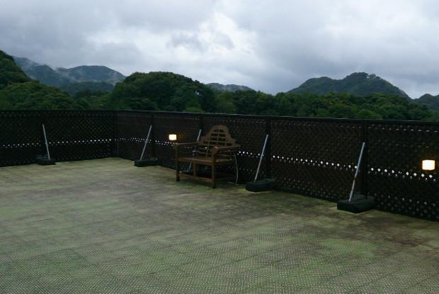 ホテル四季の蔵の屋上ドッグラン