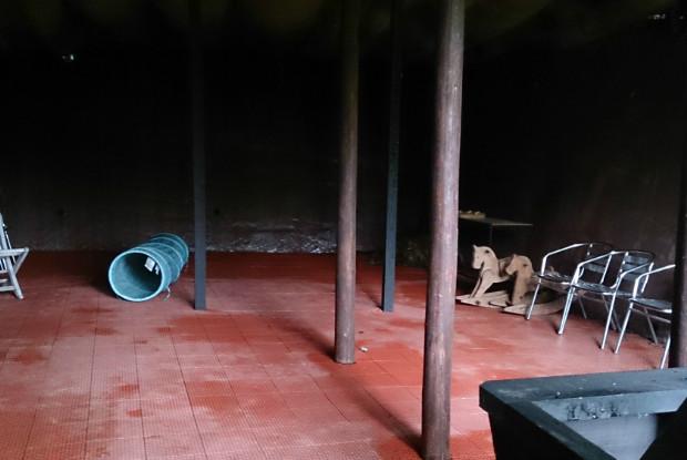 ホテル四季の蔵の屋根付きドッグラン