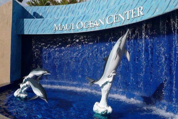 ハワイのマウイ・オーシャン・センターの入り口